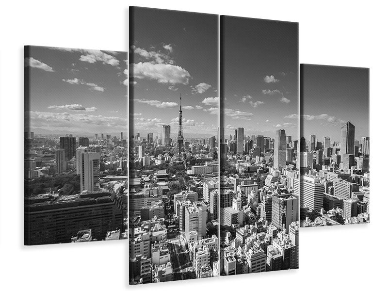 Leinwandbild 4-teilig Tokio
