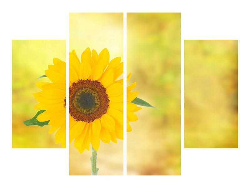 Leinwandbild 4-teilig Die Sonnenblume