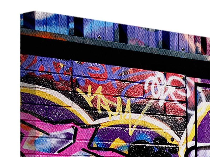 Leinwandbild 4-teilig Graffiti Kunst