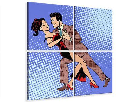 Leinwandbild 4-teilig Pop Art Merengue