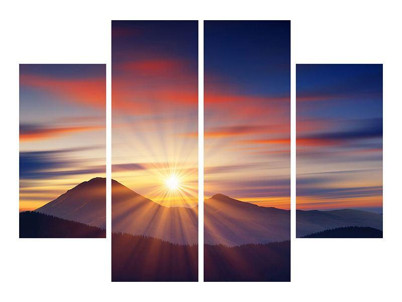 Leinwandbild 4-teilig Märchenhafte Landschaft