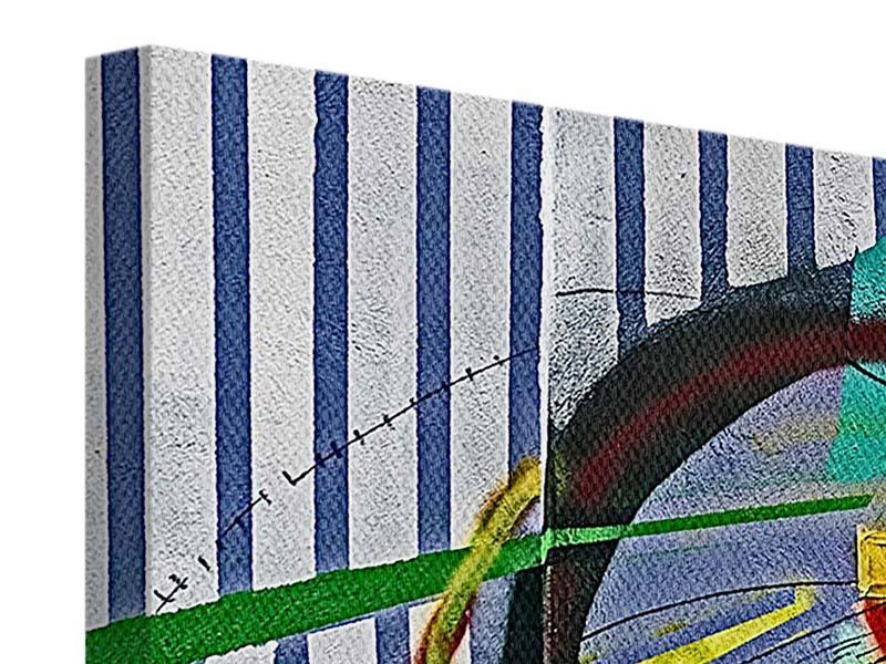 Leinwandbild 4-teilig Künstlerisches Graffiti