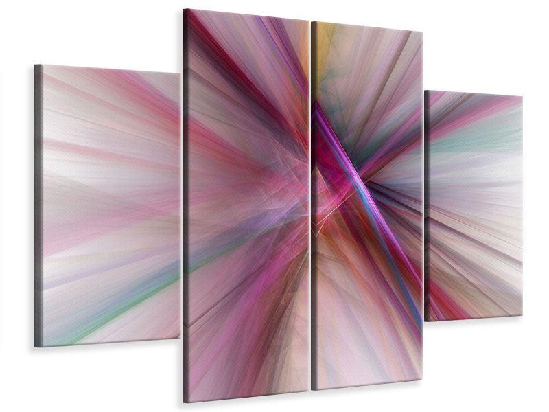 Leinwandbild 4-teilig Abstraktes Lichterleuchten