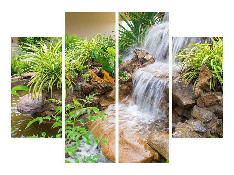Leinwandbild 4-teilig Paradiesgarten
