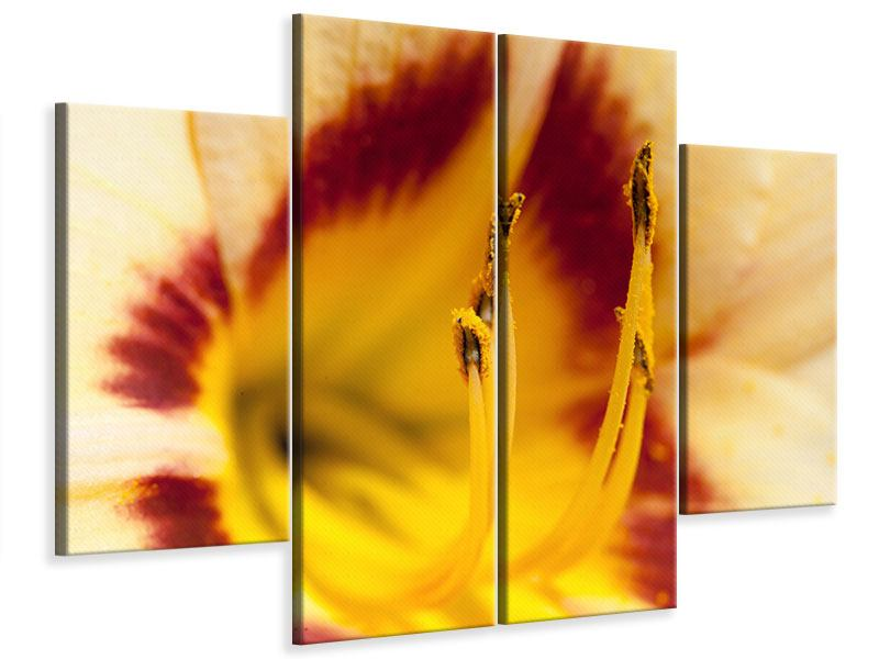 Leinwandbild 4-teilig Riesenlilie