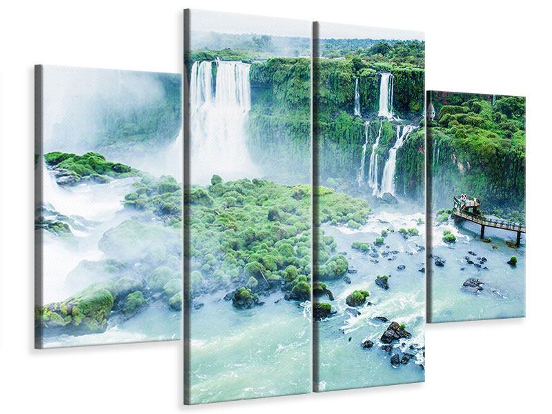 Leinwandbild 4-teilig Wasserfälle