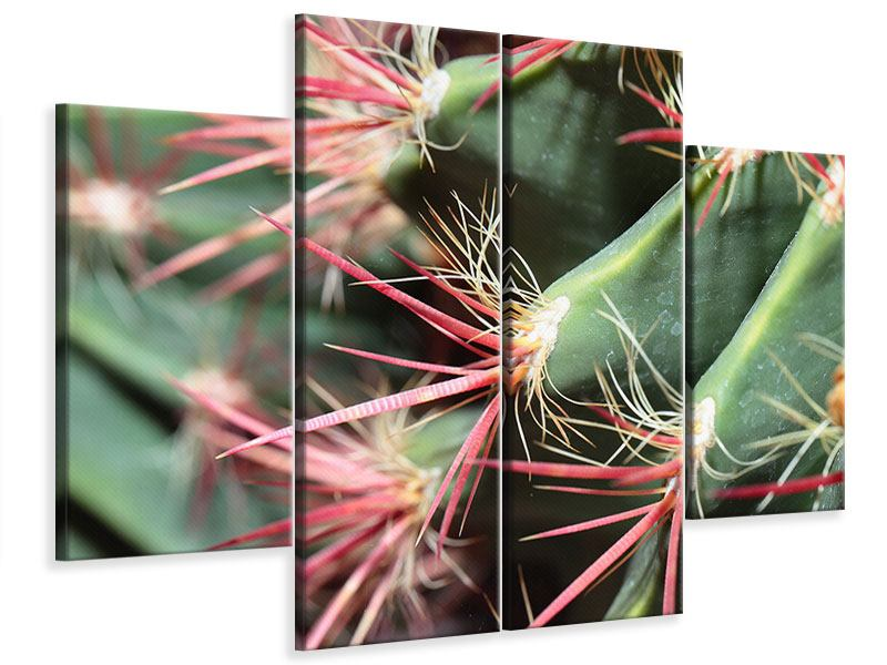 Leinwandbild 4-teilig Die Kaktusblüte