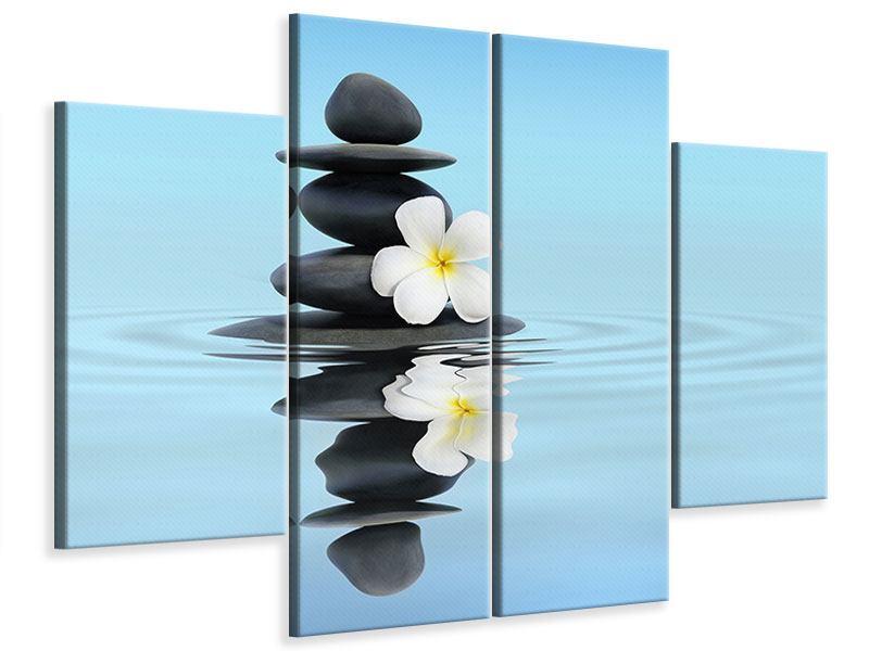 Leinwandbild 4-teilig Zen Steine