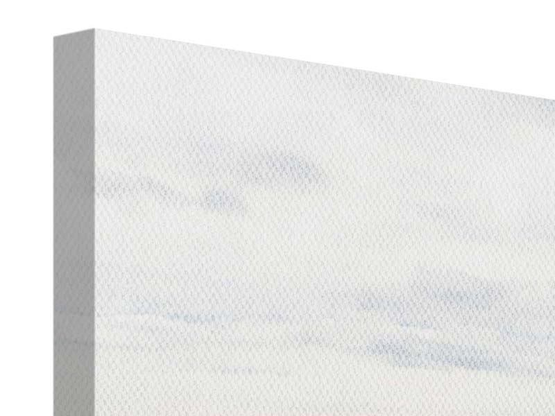 Leinwandbild 4-teilig Leise Wellen