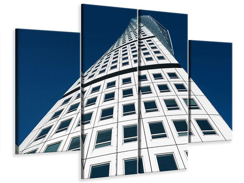 Leinwandbild 4-teilig Meisterstück Wolkenkratzer