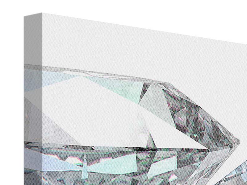 Leinwandbild 4-teilig XXL Diamant