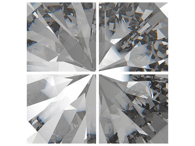 Leinwandbild 4-teilig Riesendiamant