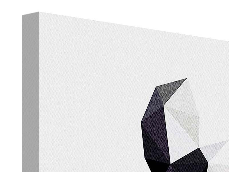 Leinwandbild 4-teilig Origami Bulldogge
