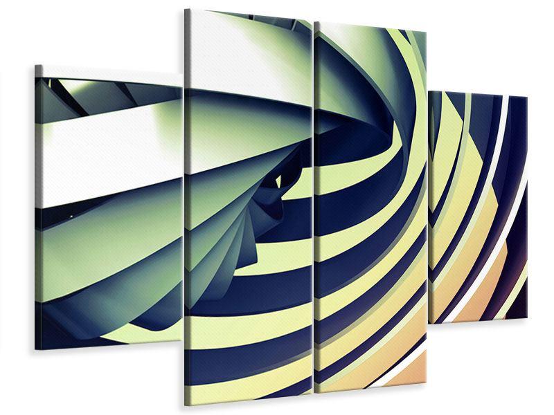 Leinwandbild 4-teilig Abstrakte Perspektiven