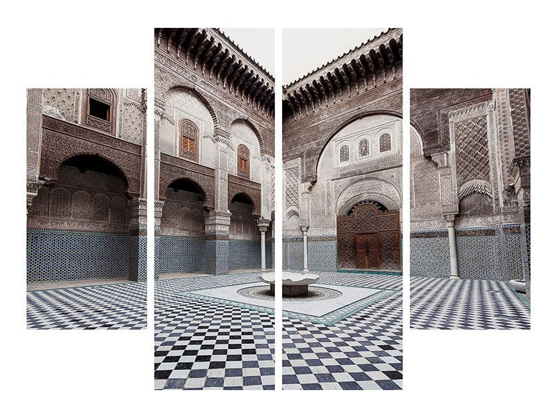 Leinwandbild 4-teilig Orientalischer Hinterhof