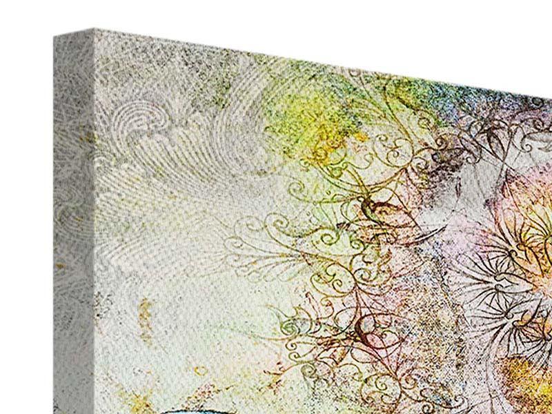Leinwandbild 4-teilig Ornament-Schmetterling