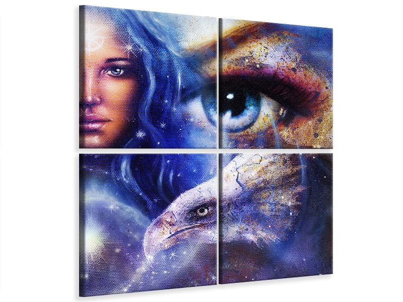 Leinwandbild 4-teilig Eyecatcher