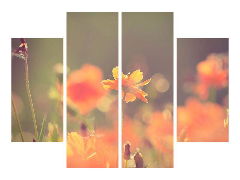 Leinwandbild 4-teilig Blütenpracht