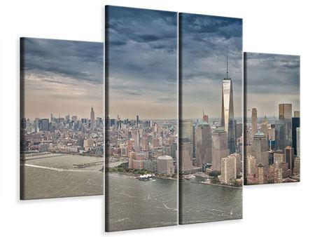 Leinwandbild 4-teilig Skyline Manhattan