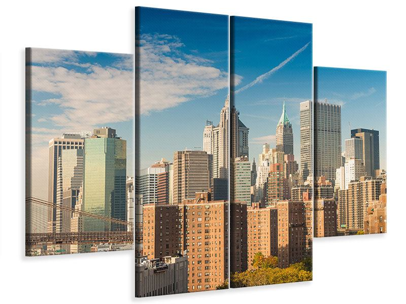 Leinwandbild 4-teilig Skyline New York