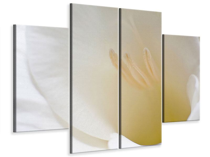 Leinwandbild 4-teilig In einer Blüte
