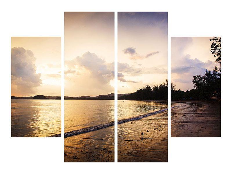 Leinwandbild 4-teilig Das Ufer