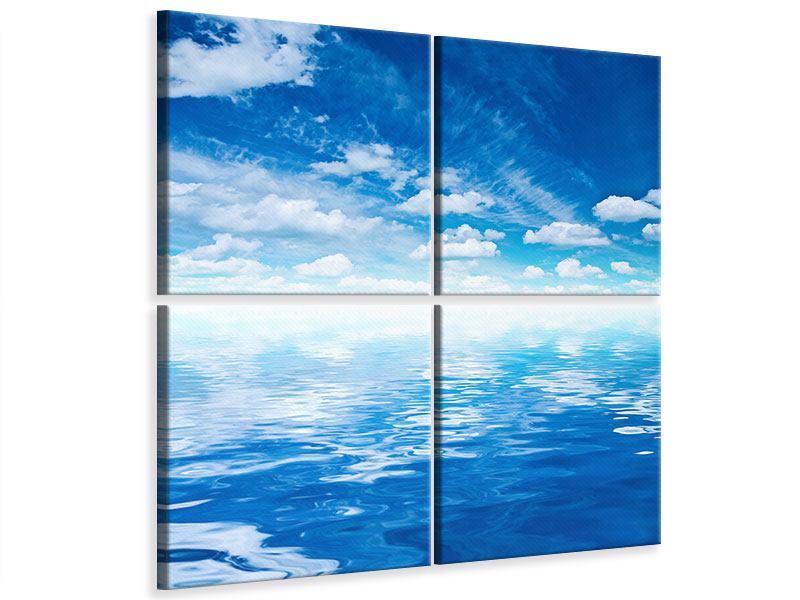 Leinwandbild 4-teilig Himmel und Wasser