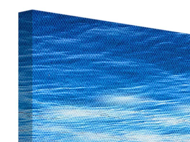 Leinwandbild 4-teilig Licht unter Wasser