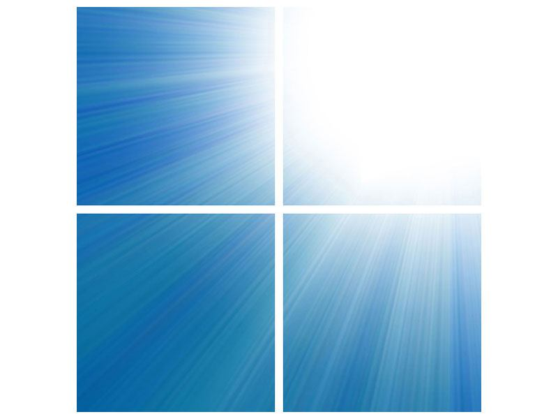 Leinwandbild 4-teilig Der Himmel