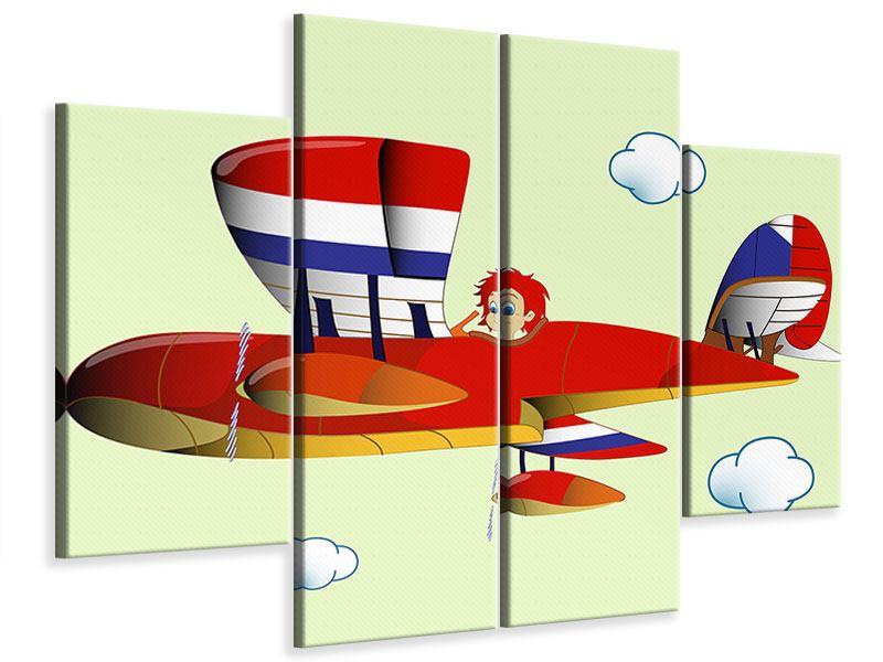 Leinwandbild 4-teilig Der fliegende Junge