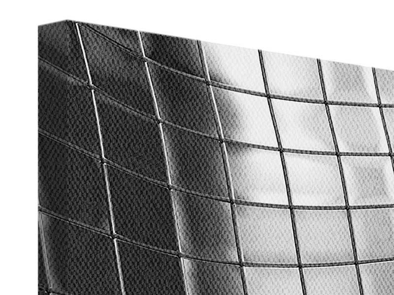 Leinwandbild 4-teilig Abstrakter Stahl