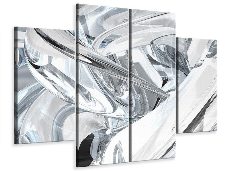 Leinwandbild 4-teilig Abstrakte Glasbahnen