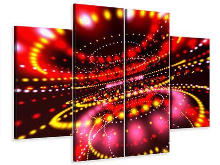 Leinwandbild 4-teilig Abstraktes Lichtspiel