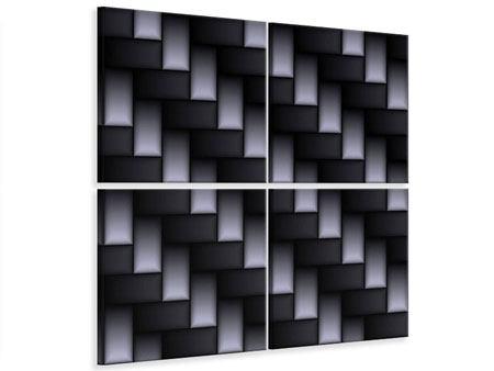 Leinwandbild 4-teilig 3D-Treppen