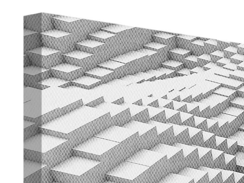 Leinwandbild 4-teilig 3D-Elemente