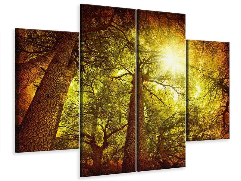 Leinwandbild 4-teilig Cedar Baum