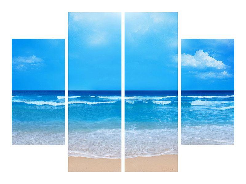 Leinwandbild 4-teilig Sanfte Strandwellen