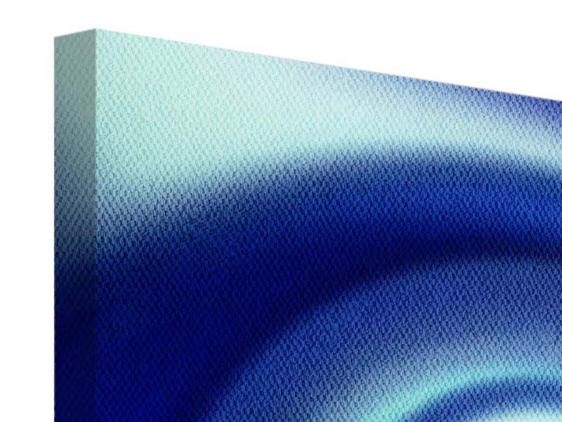 Leinwandbild 4-teilig Abstrakte Blaue Wirbel