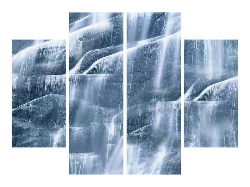 Leinwandbild 4-teilig Grossartiger Wasserfall