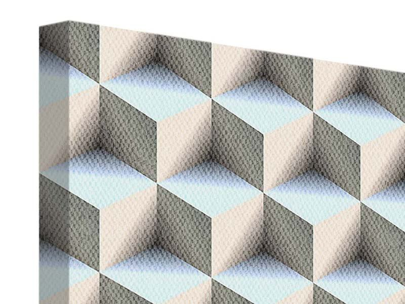 Leinwandbild 4-teilig 3D-Polytop