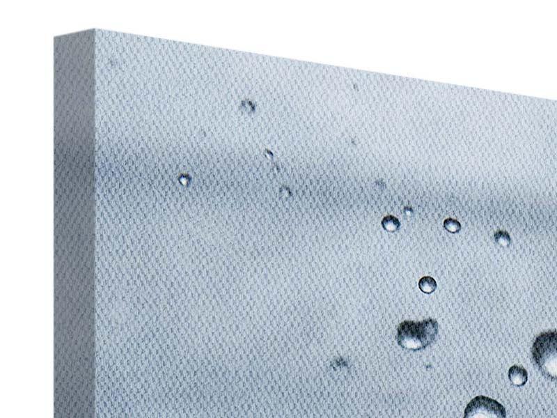 Leinwandbild 4-teilig Wassertropfen