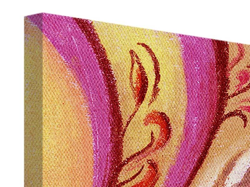 Leinwandbild 4-teilig XL Paisley