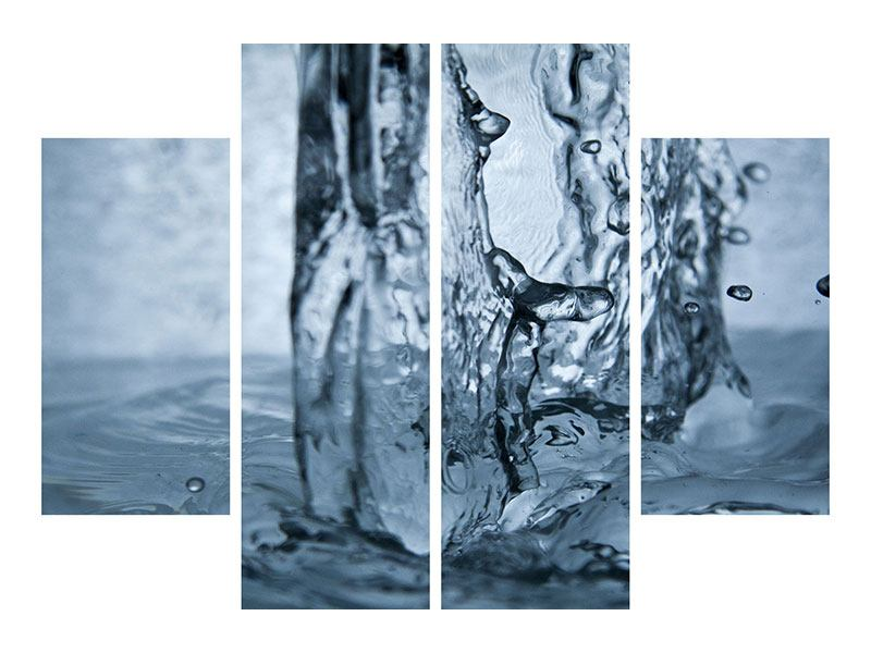Leinwandbild 4-teilig Wasserdynamik