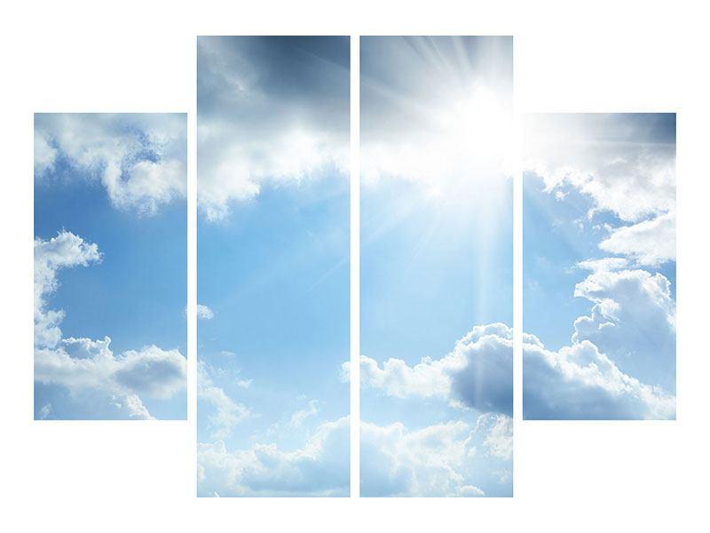 Leinwandbild 4-teilig Himmelshoffnung