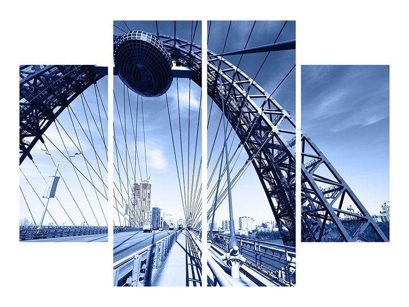 Leinwandbild 4-teilig Schiwopisny-Brücke
