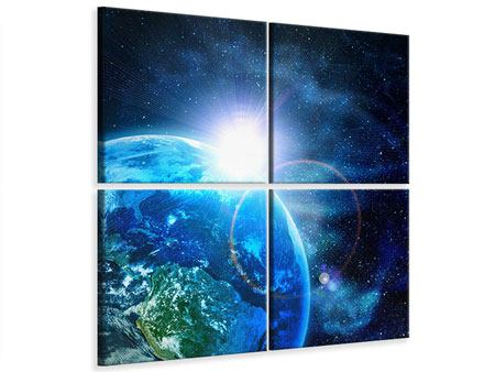 Leinwandbild 4-teilig Galaxien
