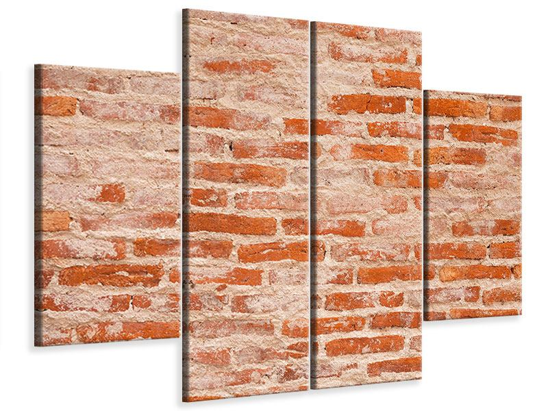 Leinwandbild 4-teilig Mauerwerk