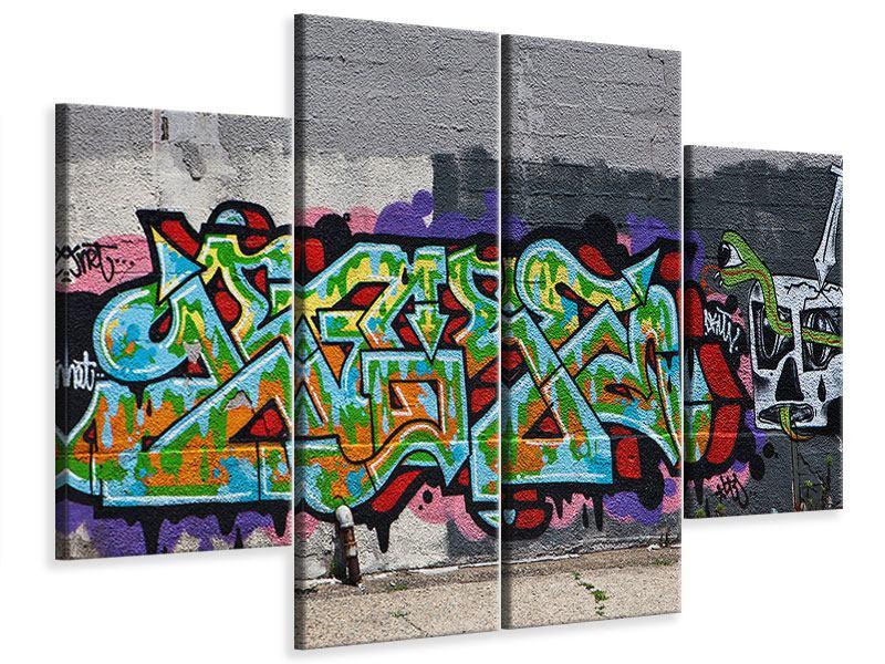 Leinwandbild 4-teilig Graffiti in New York