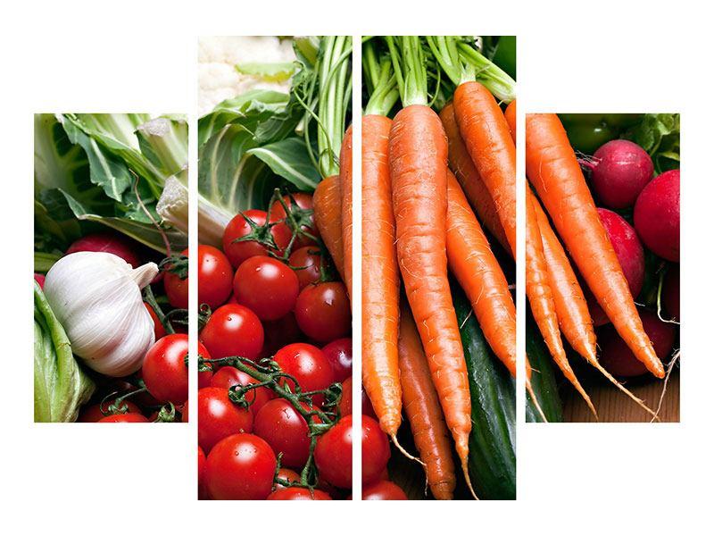 Leinwandbild 4-teilig Gemüse
