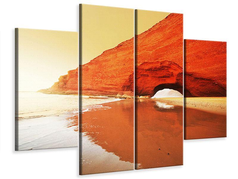 Leinwandbild 4-teilig Wasserspiegelung